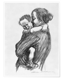 Premium poster  Mother and child - Käthe Kollwitz