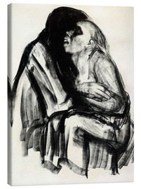 Canvas  Death grasps a woman - Käthe Kollwitz