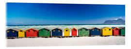 Acrylic print  Beach hut - Ian Cuming