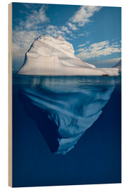 Wood print  Iceberg in the Canadian Arctic - Richard Wear