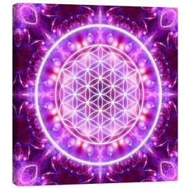 Canvas print  Flower of Life, transformation - Dolphins DreamDesign