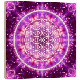 Wood  Flower of Life - Transformation - Dolphins DreamDesign