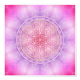 Premium poster Flower of life - unconditional love