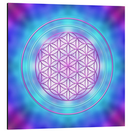 Aluminium print  Flower of Life - Intuition - Dolphins DreamDesign