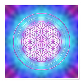 Premium poster  Flower of Life - Intuition - Dolphins DreamDesign