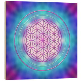 Wood  Flower of Life - Intuition - Dolphins DreamDesign