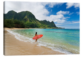Canvas print  Surfer on Maui - M. Swiet