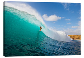 Canvas print  Surfer riding a perfect wave - MakenaStockMedia