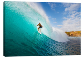 Canvas  Surfer in Hawaii - MakenaStockMedia