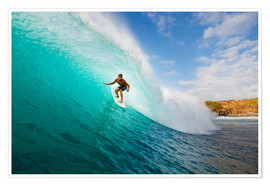 Premium poster  Surfer in Hawaii - MakenaStockMedia