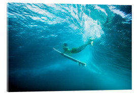 Acrylic glass  Surfer under water - MakenaStockMedia