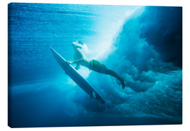 Canvas  Surfer emerges - MakenaStockMedia