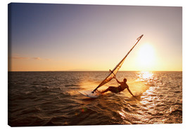 Canvas print  Windsurfer in Hawaii - MakenaStockMedia