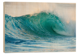 Wood print  Shining wave - Vince Cavataio