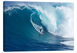 Canvas  Giant wave off Maui - Ron Dahlquist