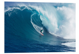 Foam board print  Giant wave off Maui - Ron Dahlquist