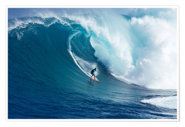 Premium poster Giant wave off Maui