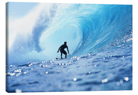 Canvas  Surfer in the pipeline Barrel - Vince Cavataio