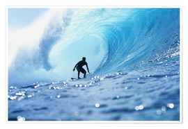 Premium poster  Surfer in the pipeline Barrel - Vince Cavataio