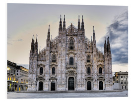 Foam board print  Piazza del Duomo in Milan - Richard Desmarais