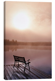 Canvas  Jetty in morning fog - Doug Hamilton