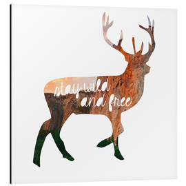 Alu-Dibond  Deer - stay wild and free - GreenNest