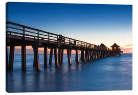 Canvas  Pier of Naples at sunset, Florida - Circumnavigation