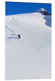 Foam board print  Snowboarder in the Chugach Mountains - Dan Bailey