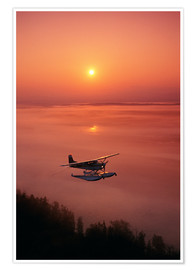 Premium poster  Seaplane at sunset - Jeff Schultz