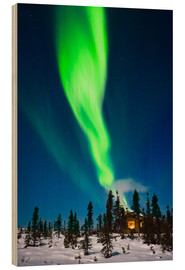 Wood print  Aurora in Alaska - Kevin Smith