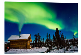 Acrylic print  Northern Lights over a hut - Kevin Smith