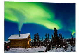 Foam board print  Northern Lights over a hut - Kevin Smith