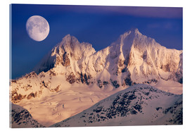 Acrylic print  Moon over the Tongass National Forest - John Hyde
