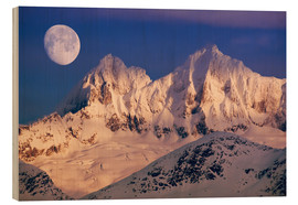 Wood  Moon over the Tongass National Forest - John Hyde