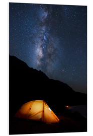Foam board print  Tent and starry sky - MakenaStockMedia