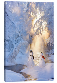 Canvas print  Snowman couple - Kevin Smith