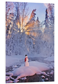 Forex  Snowman on a wintry creek - Kevin Smith