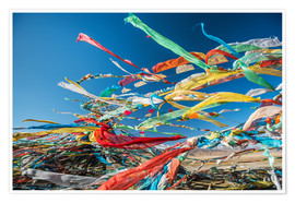 Premium poster  Tibetan prayer flags in the wind - Sergey Orlov