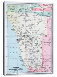 Canvas print  Map Of German South-West Africa  - Ken Welsh