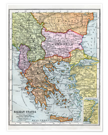 Premium poster The Balkan States Between The First And Second World Wars
