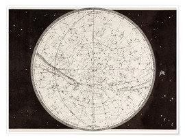 Poster Map Of The Northern Heavens