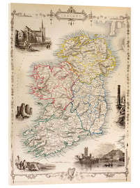 Acrylic glass  Map Of Ireland by Thomas Wright - Ken Welsh
