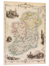 Forex  Map Of Ireland by Thomas Wright - Ken Welsh