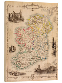 Wood  Map Of Ireland by Thomas Wright - Ken Welsh