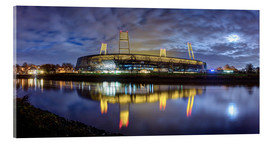 Acrylic glass  Bremen stadium in the moonlight - Tanja Arnold Photography
