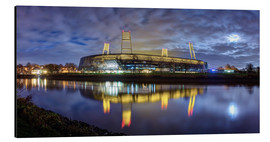 Aluminium print  Bremen stadium in the moonlight - Tanja Arnold Photography