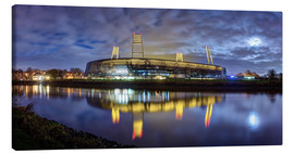 Canvas print  Bremen stadium in the moonlight - Tanja Arnold Photography
