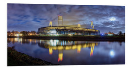 Foam board print  Bremen stadium in the moonlight - Tanja Arnold Photography