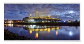 Premium poster Bremen stadium in the moonlight