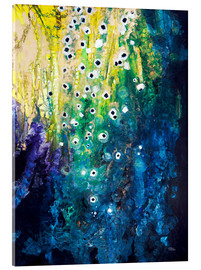 Acrylic print  Flowers and waterfall after Klimt - Tara Thelen